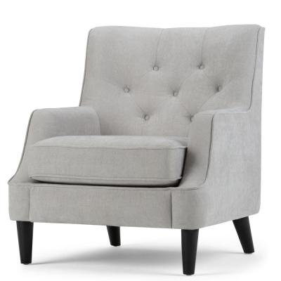 Grange 30 in. Wide Traditional Tufted Club Arm Chair in Dove Grey Chenille Look Fabric