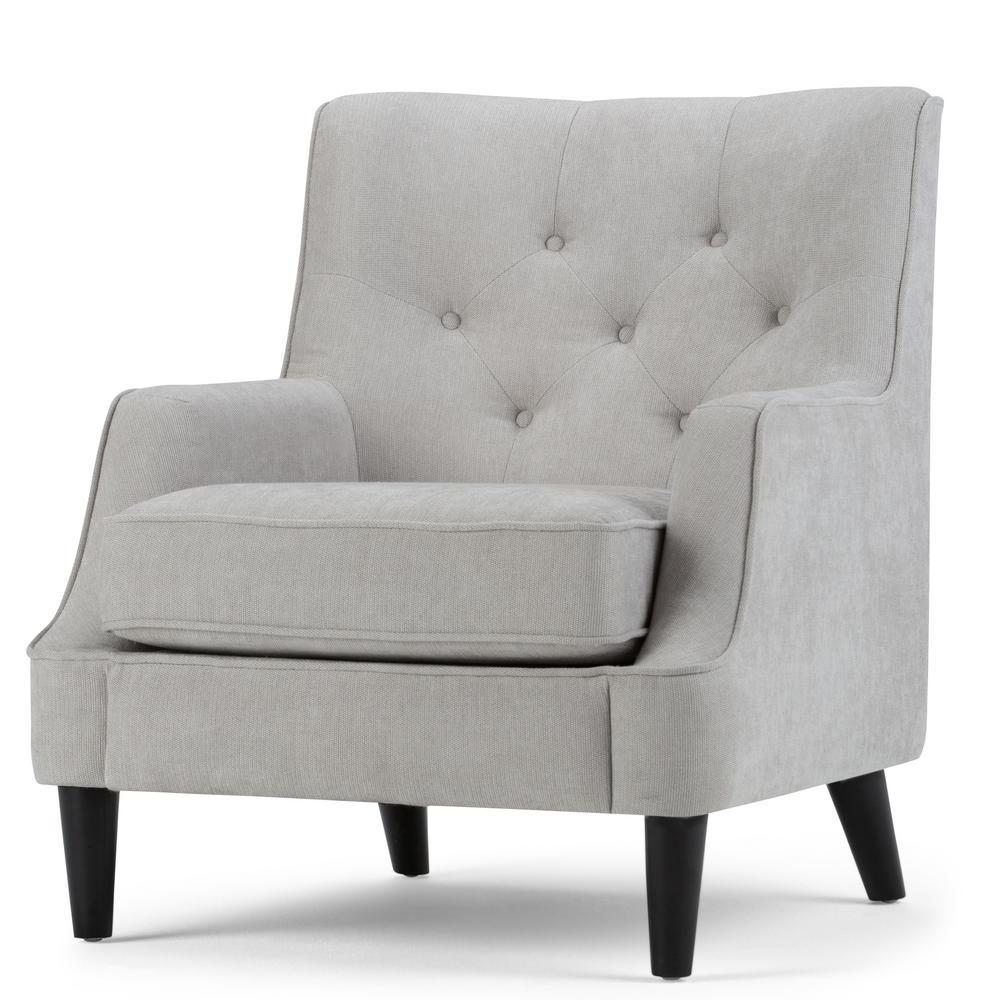 Grange Light Dove Grey Fabric Club Arm Chair