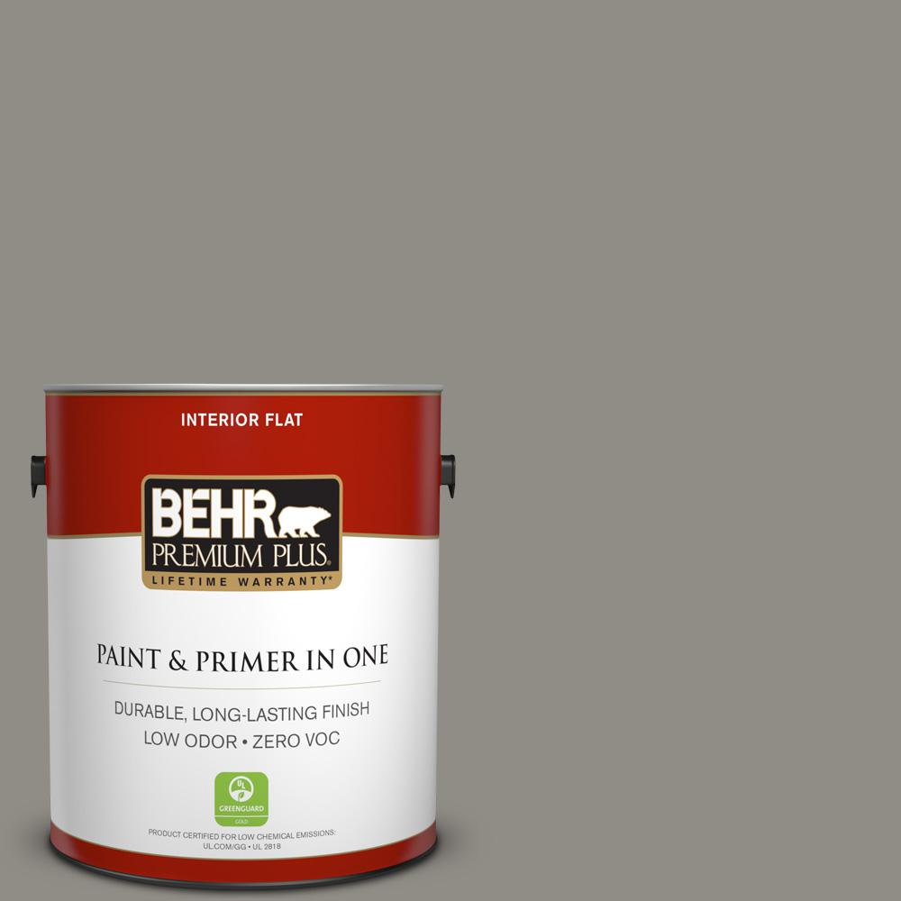1 gal. #PPU24-08 Parador Stone Zero VOC Flat Interior Paint