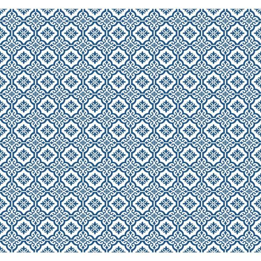 Seabrook Designs Coastal Tile Blue Oasis Wallpaper