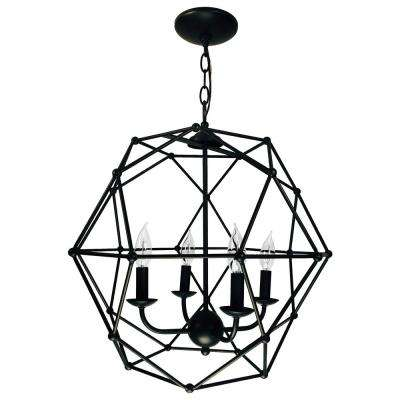 Avo 4-Light Rubbed Oil Bronze Pendant