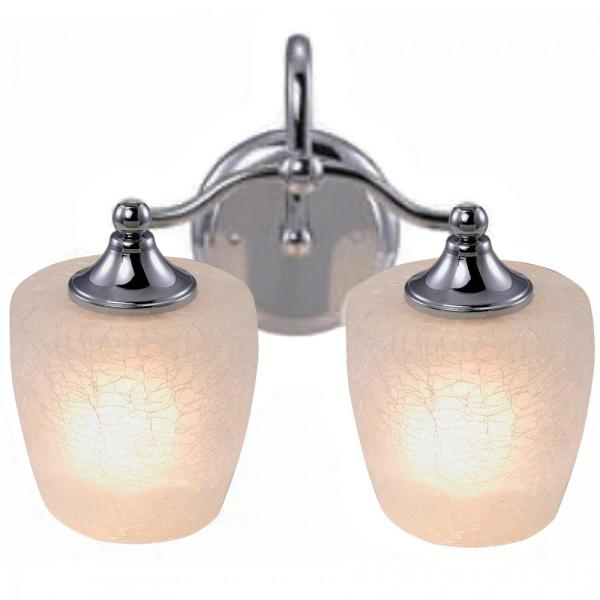 Eva 2-Light Chrome Frame Bath Vanity Light