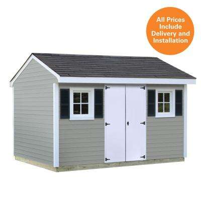 Installed Classic 8 ft. x 12 ft. Vinyl Shed