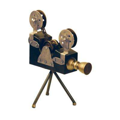 Olivier 12 in. x 16 in. Black and Gold Metal Decorative Camera Display