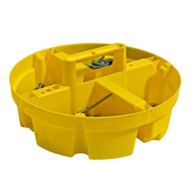10 in. 4-Compartment Stacker Small Parts Organizer for Bucket Storage