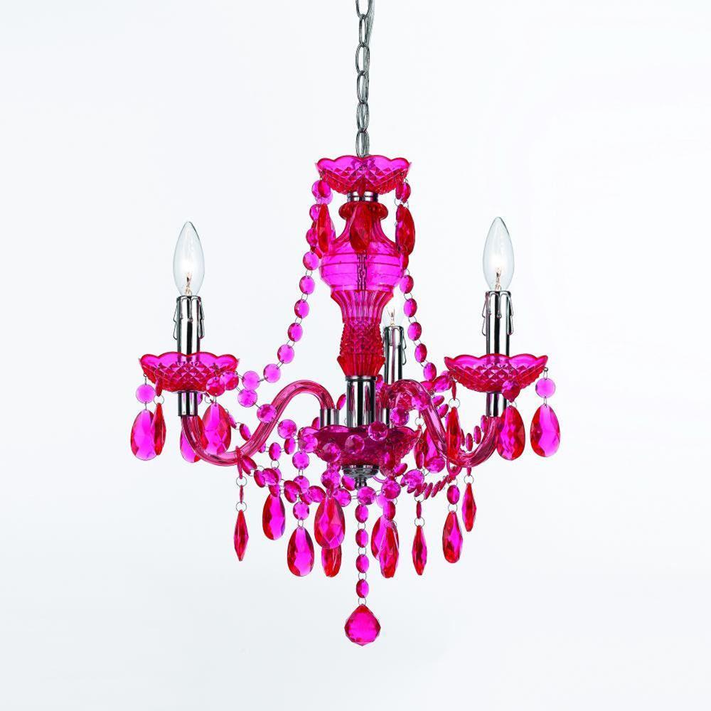 Fulton Hot 3-Light Pink Mini Chandelier