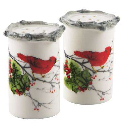 Set of Two Cardinal Holly Salt and Pepper Shaker
