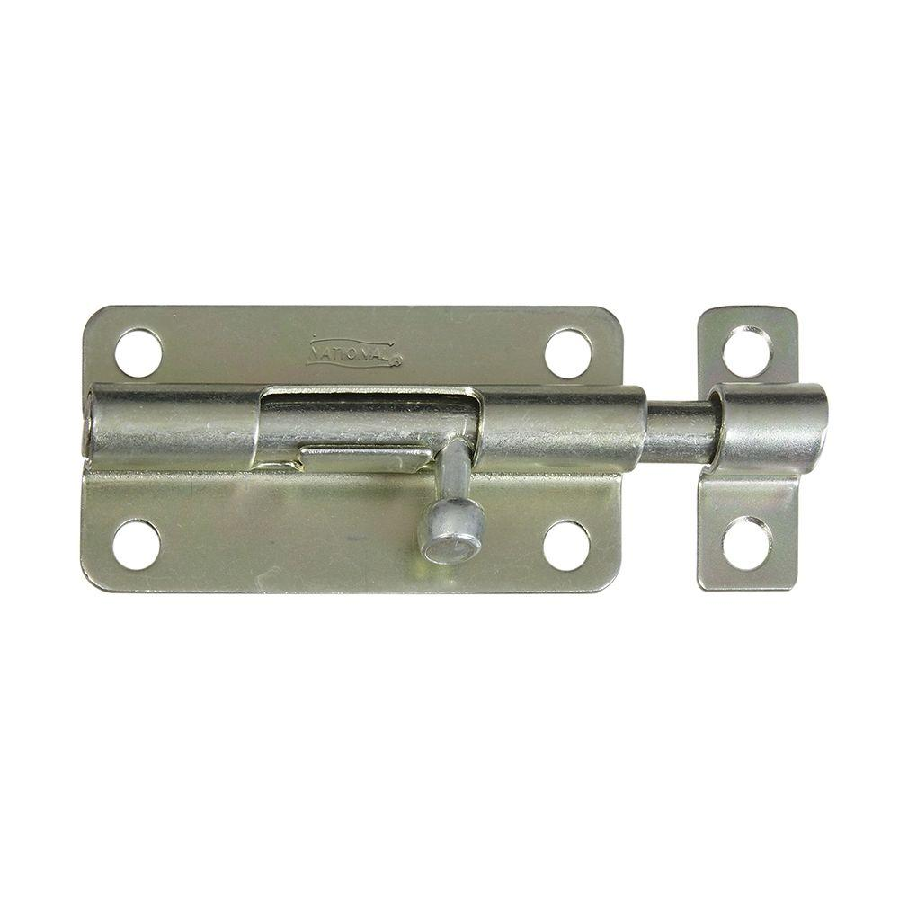 National Hardware 4 in. Barrel Bolt in Zinc Plate-DISCONTINUED