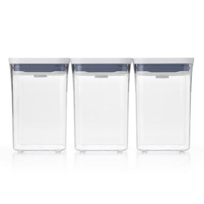 Good Grips 3-Piece Small Square Short POP Container Set