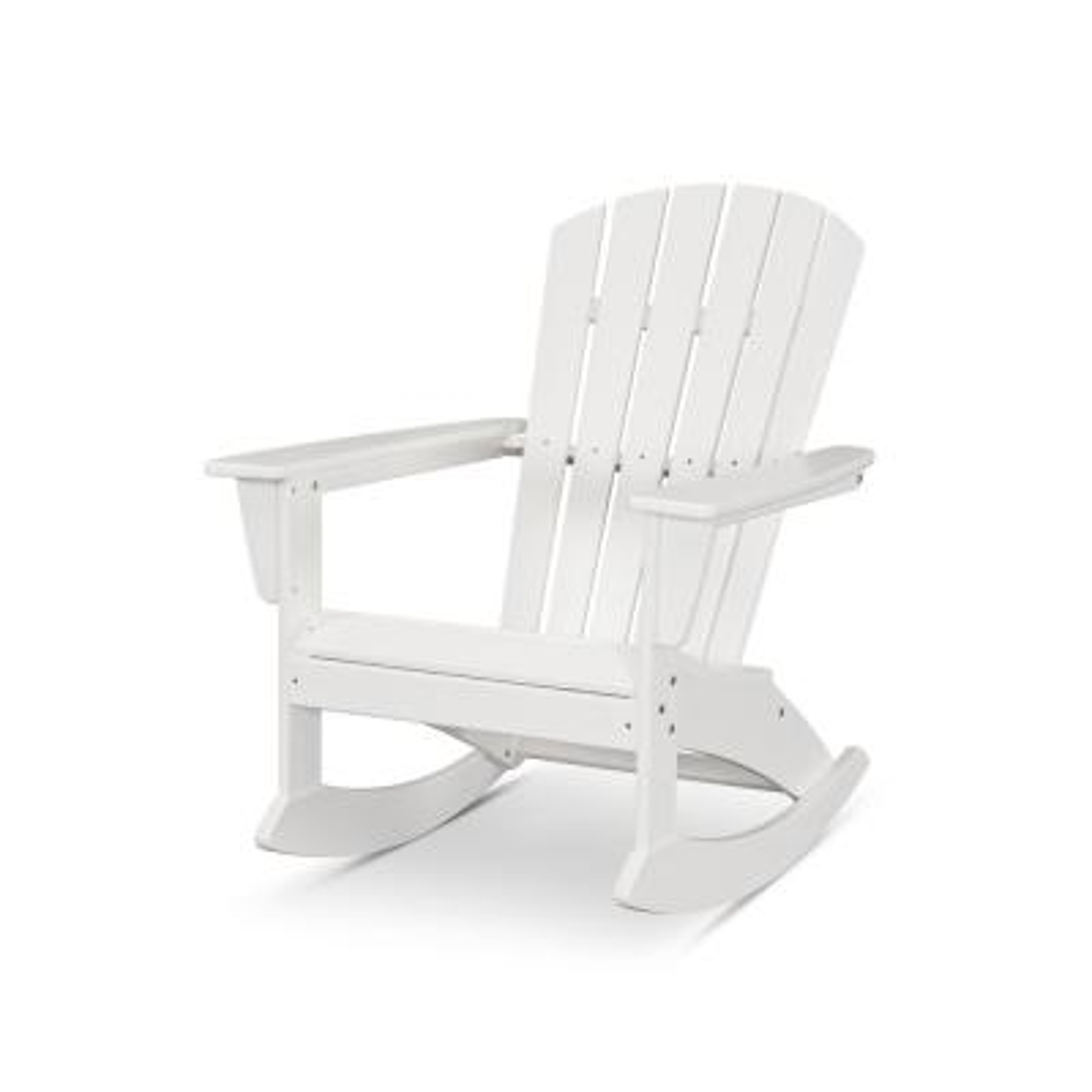 Grant Park Plastic Patio Outdoor Adirondack Rocking Chair