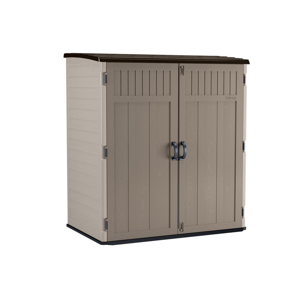 Suncast 5 ft. 10.5 in. x 3 ft. 8.25 in. x 6 ft. 5.5 in. XL Vertical Storage Shed