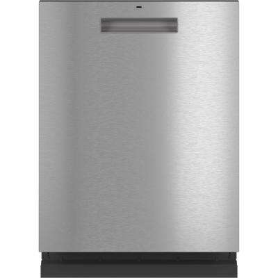 Top Control Tall Tub Dishwasher in Platinum Glass with Stainless Steel Tub and Steam Cleaning, 45 dBA