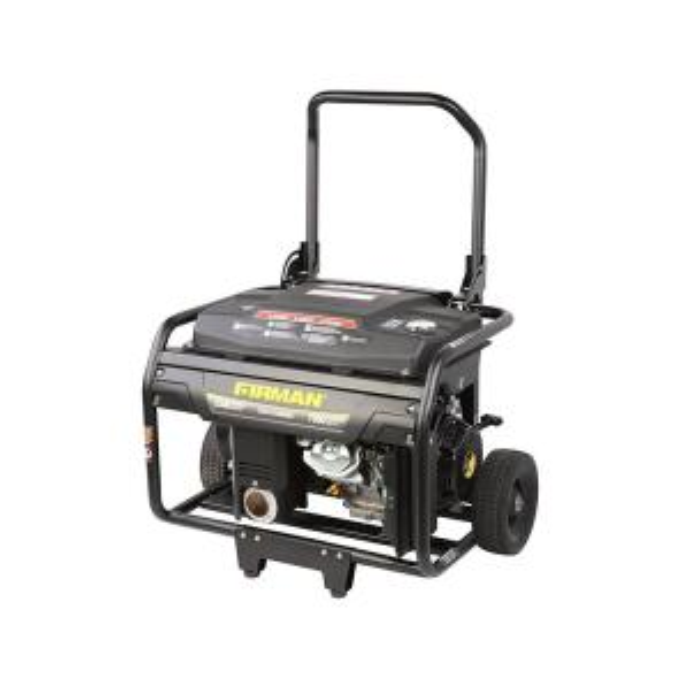 Firman 5500/7000-Watt Gas Powered Remote Start Portable Generator with Wheel Kit by Firman