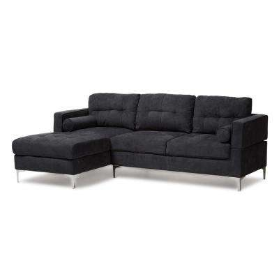 Mireille Dark Gray Fabric Sectional