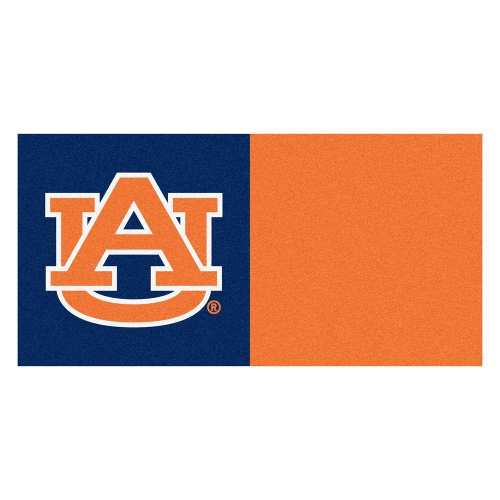 FANMATS NCAA - Auburn University 18 in. x 18 in. Carpet Tile (20 Tiles/Case)