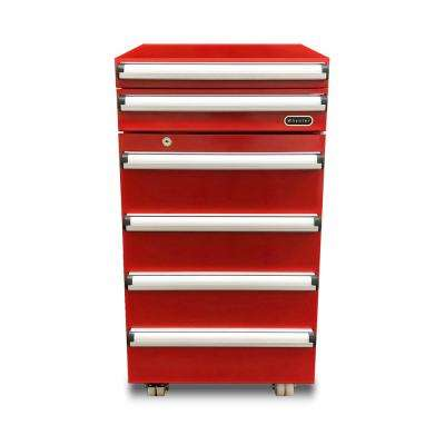 Portable 1.8 cu. ft. Tool Box Refrigerator in Red with 2 Drawers and Lock