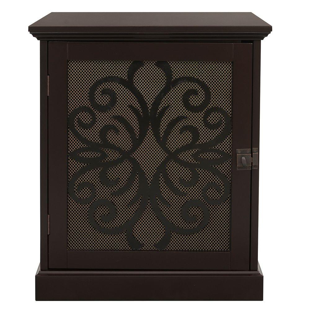 Elegant Home Fashions 19.5 in. W x 22.5 in. D x 22.5 in. H Small Espresso Cooper Buddy Residence