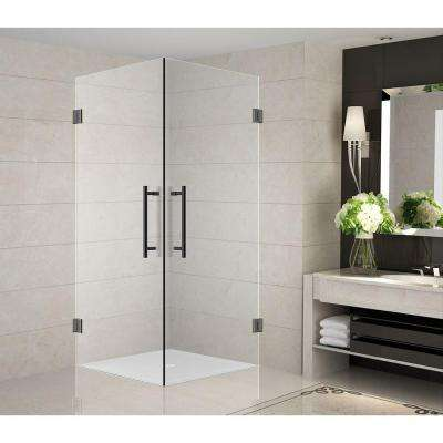 Vanora 30 in. x 30 in. x 72 in. Completely Frameless Square Shower Enclosure in Oil Rubbed Bronze