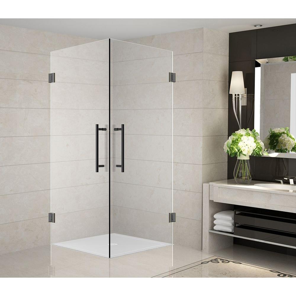 36 inch corner shower kit. Aston Vanora 36 in  x 72 Completely Frameless Square Shower Enclosure Oil Rubbed Bronze SEN989 ORB 10 The Home Depot
