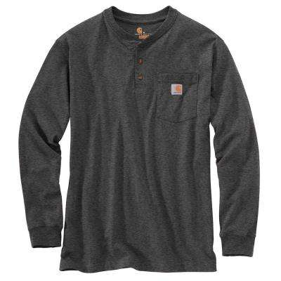 Men's Regular Medium Carbon Heather Cotton/Polyester Long-Sleeve T-Shirt