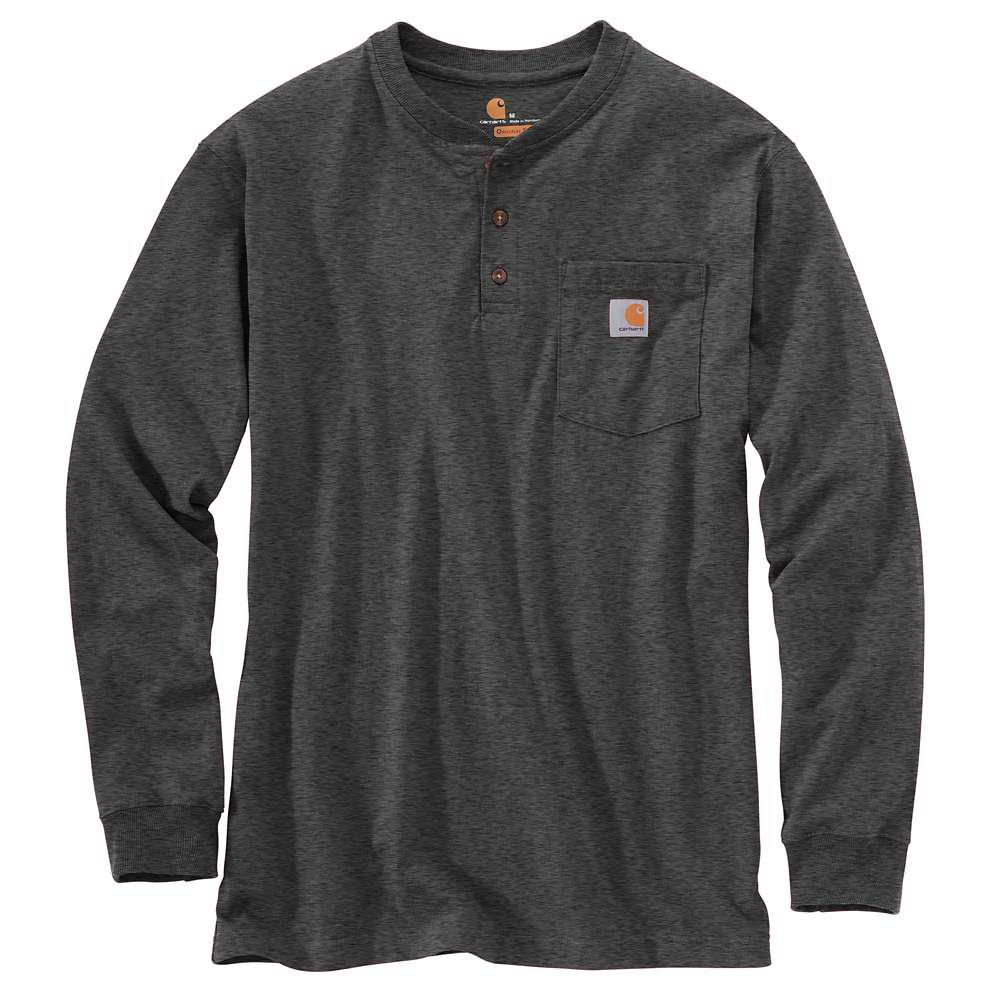 68cd61026f1 Carhartt Men s Regular X Large Carbon Heather Cotton Polyester Long-Sleeve  T-Shirt