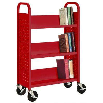 pbteen red bookcase c drawer rockwell products
