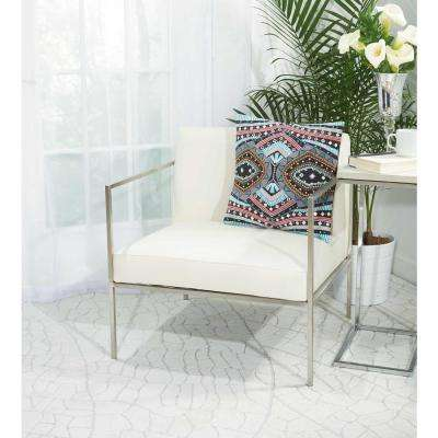 Western Mosaic 18 in. x 18 in. Multicolor Pillow
