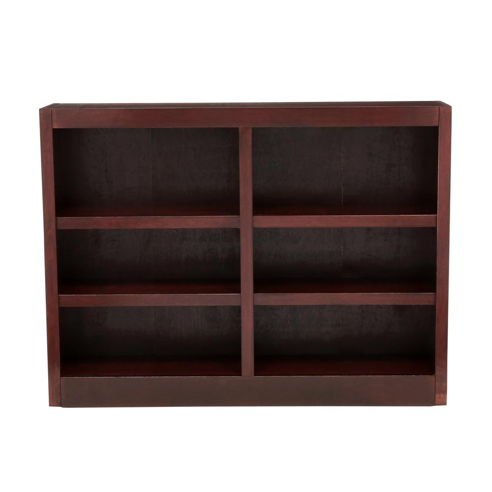 Concepts in wood midas double wide shelf bookcase