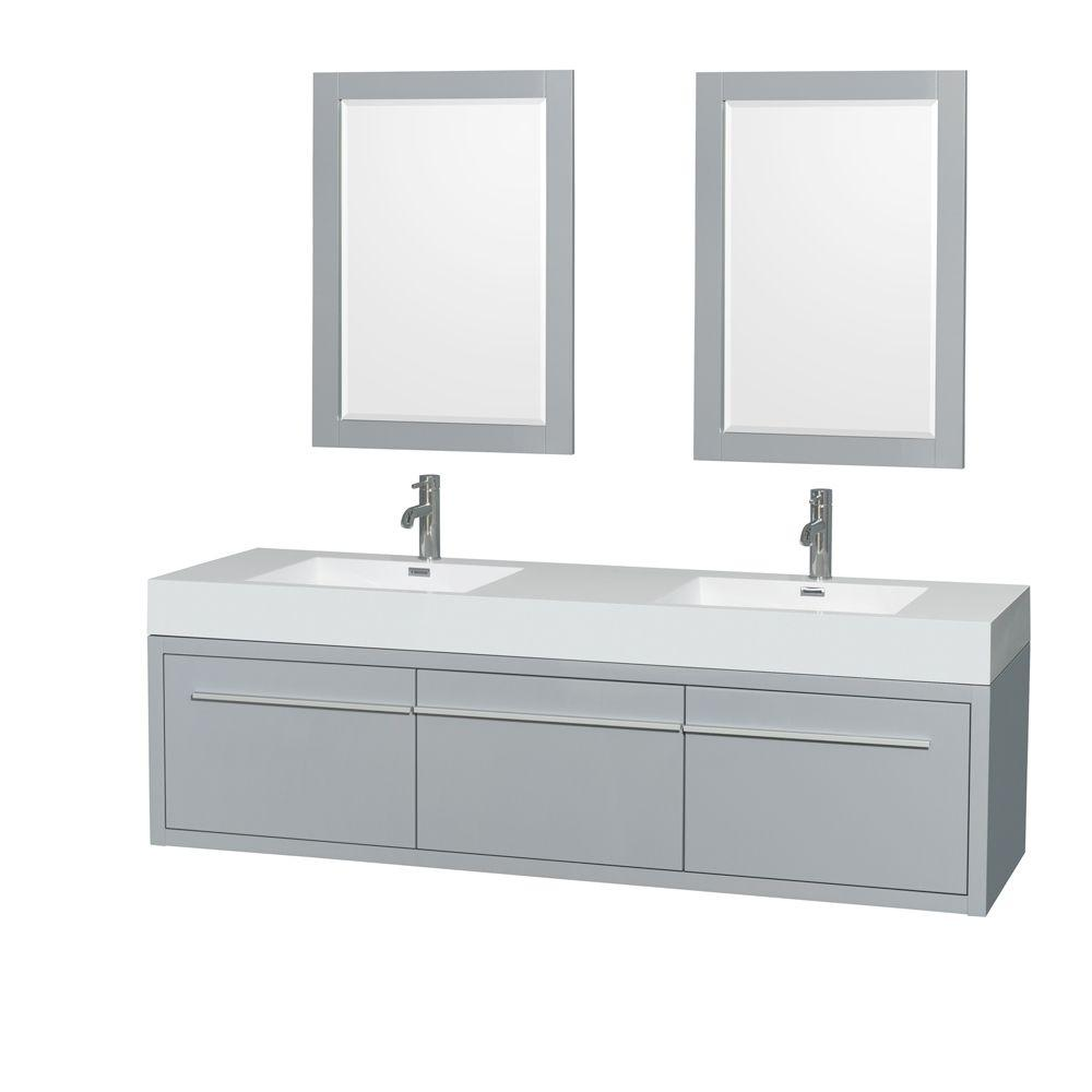 Wyndham Collection Axa 72 In W X 21 75 D Vanity Dove Gray