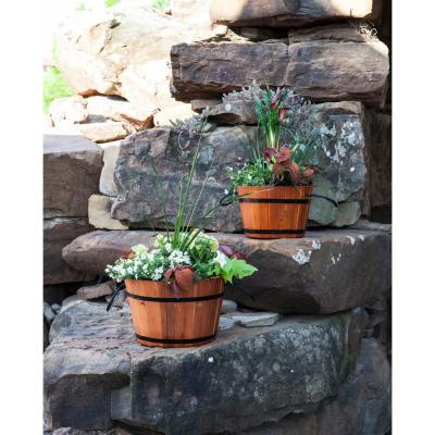 12 in. x 12 in. x 8 in. Large Rope Handle Planter