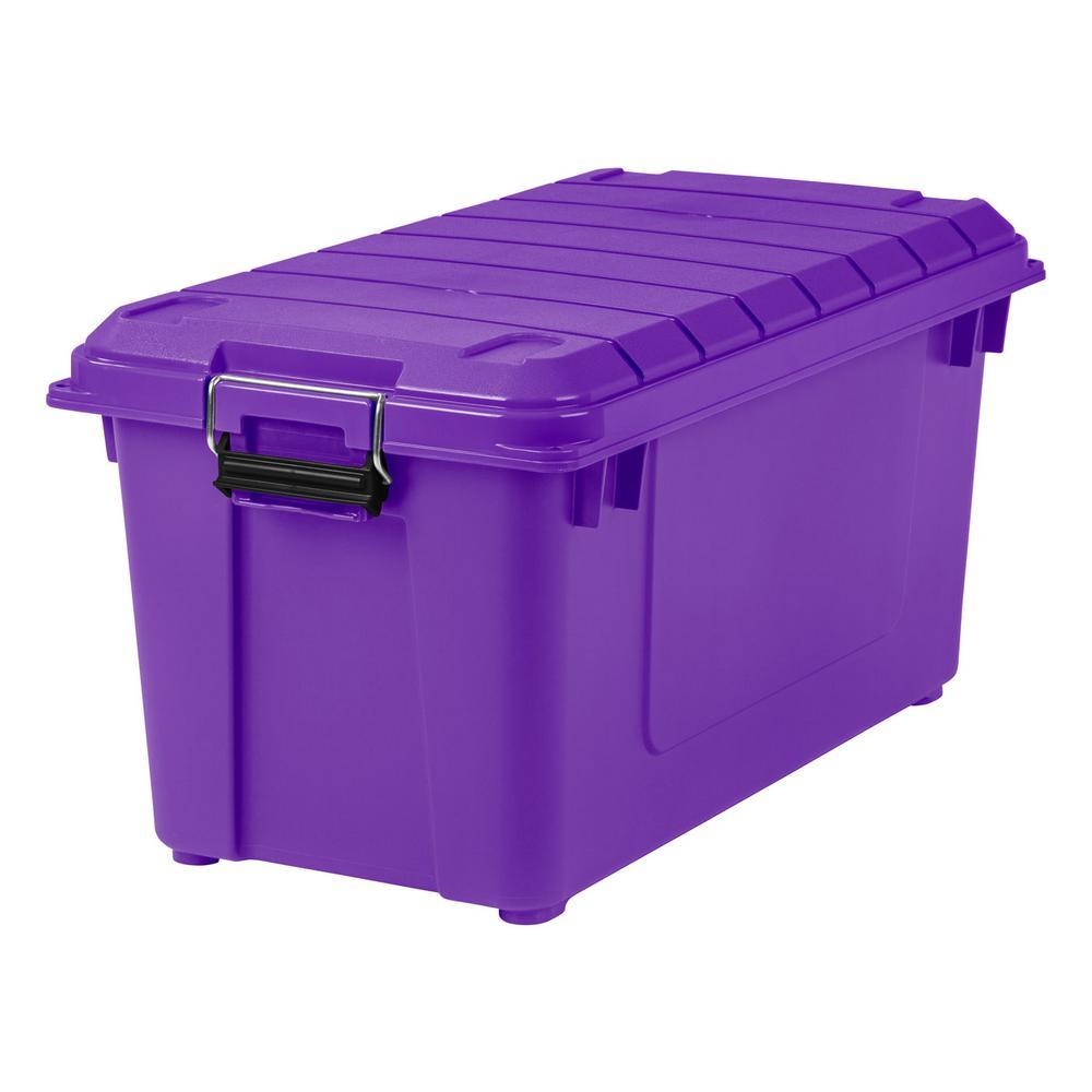 Exceptionnel 82 Qt. Weathertight Store It All Storage Bin In Purple