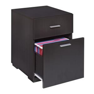 +3. OneSpace Olivia 2 Drawer Espresso Lateral File Cabinet