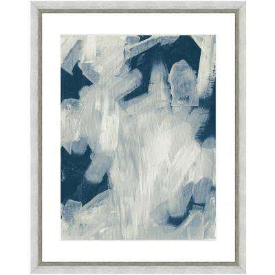 """Abstract brushstrokes I"" Framed Archival Paper Wall Art (26 in. x 32 in. in full size)"