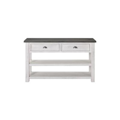 Monterey Sofa Console Table, White and Grey
