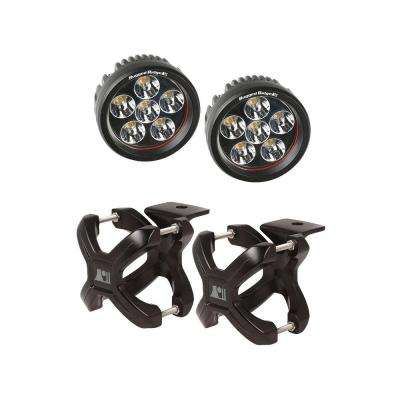 2.25 in. to 3 in. X-Clamp Light Mount and 3.5 in. Round LED Light Kit (2-Pack)