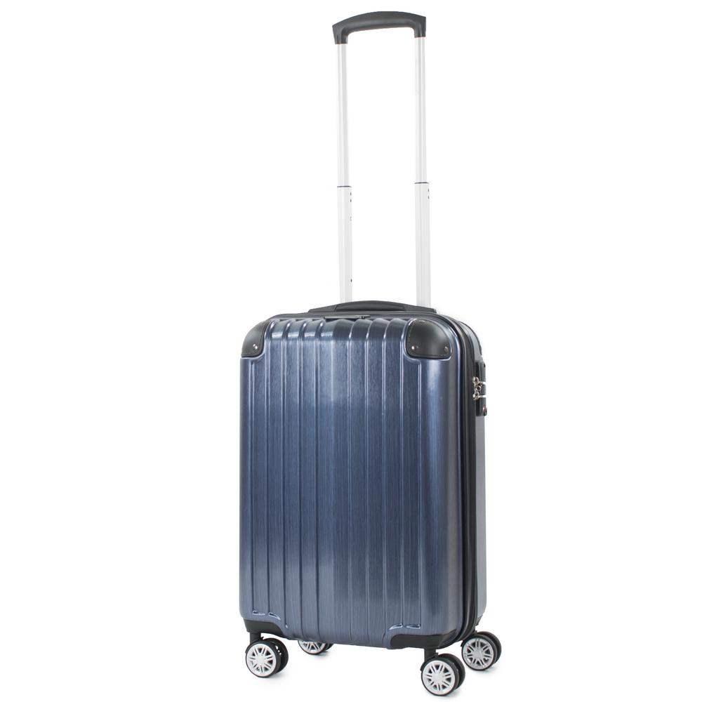Melrose Blue 20 in. Carry-On Polycarbonate Expandable Spinner Luggage with TSA
