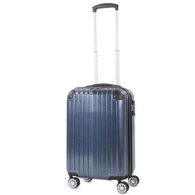 Melrose Blue 20 in. Carry-On Polycarbonate Expandable Spinner Luggage with TSA Lock and Corner Guards