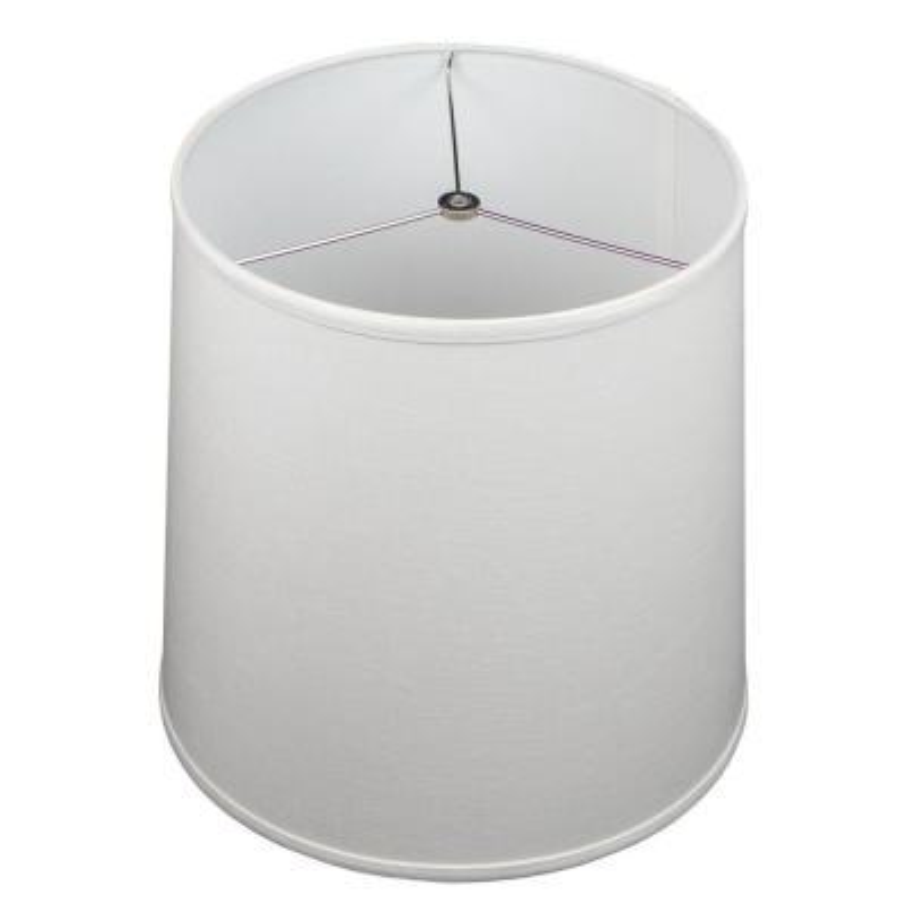 Fenchel Shades 13 in. Top Diameter x 15 in. Bottom Diameter x 15 in. Slant Empire Lamp Shade - Designer Linen Off White