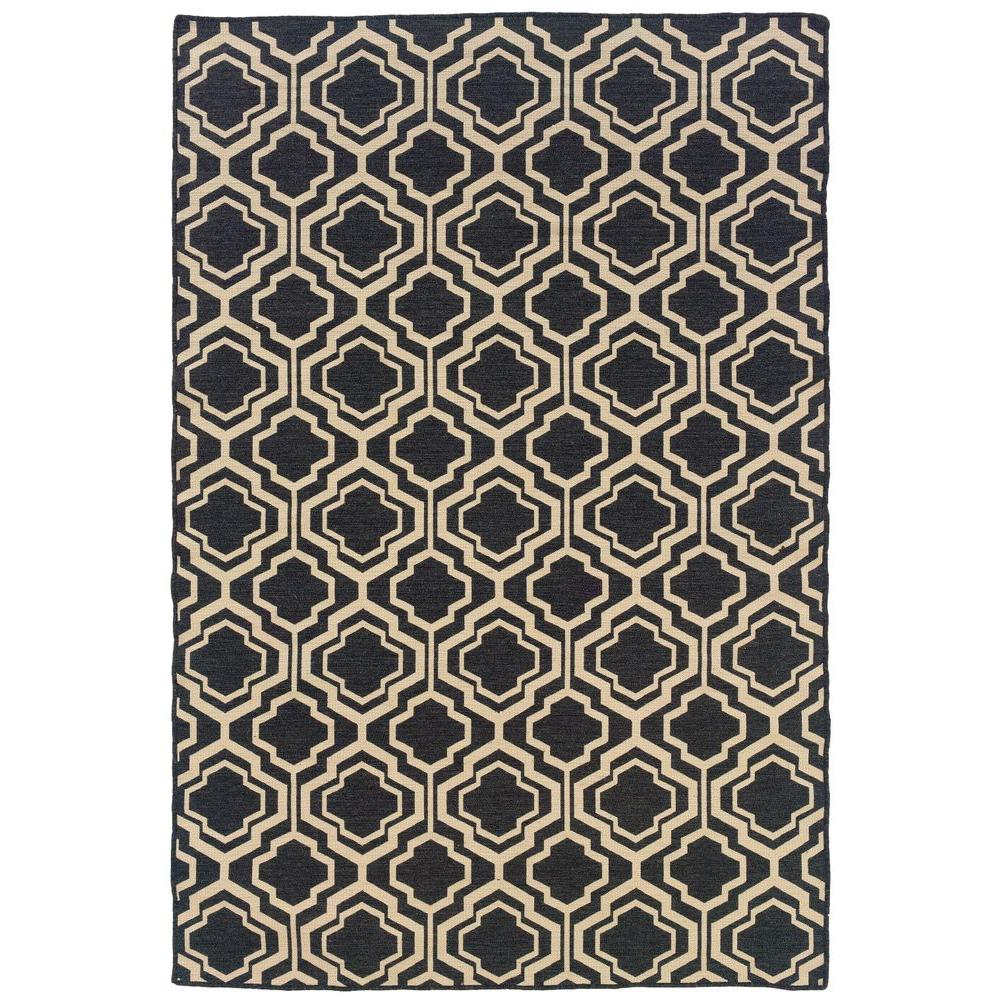 Salonika DB Quatrefoil Grey 5 ft. x 8 ft. Area Rug