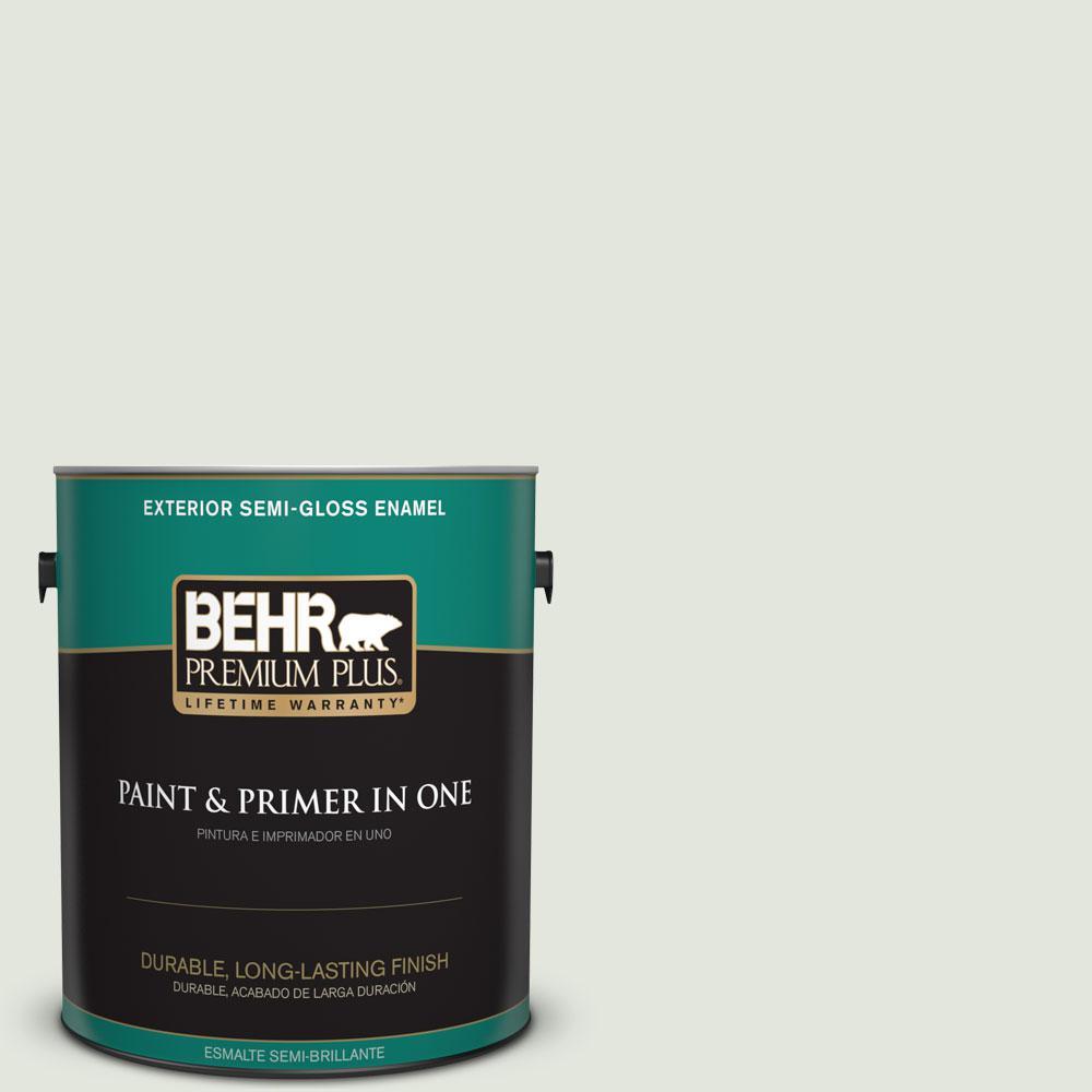 1-gal. #BL-W6 Whispering Waterfall Semi-Gloss Enamel Exterior Paint