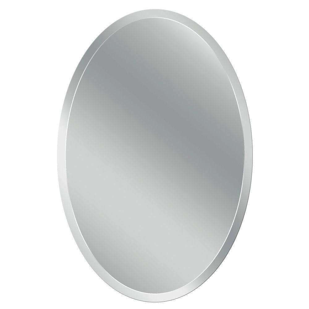 Head West 24 in. x 36 in. Frameless Vanity Oval Mirror