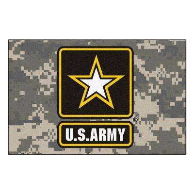 Military Tan 2 ft. x 3 ft. Rectangle Army Area Rug
