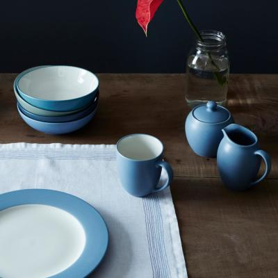 Colorwave Coupe 4-Piece Casual Ice Stoneware Dinnerware Set (Service for 1)