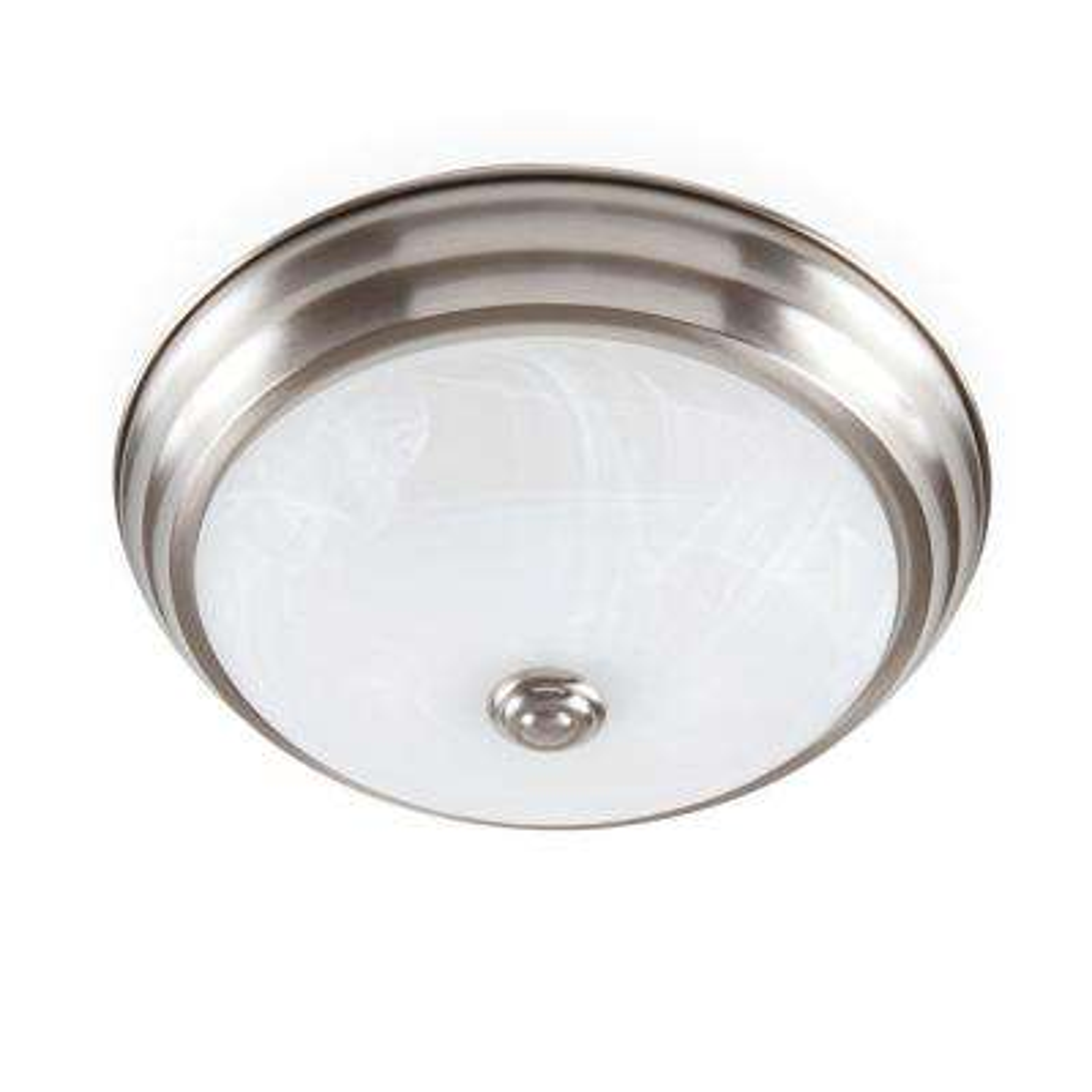 Brushed Nickel LED Flushmount with Alabaster Glass (20-Pack)