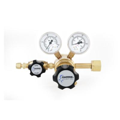 0 PSI to 125 PSI 2-Stage CGA 320 Brass, 1/4 in. Compression Fitting, Carbon Dioxide Specialty Gas Lab Regulator