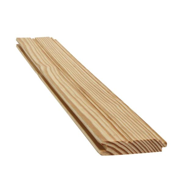 1 in. x 4 in. x 8 ft. Southern Yellow Pine Tongue and Groove Board