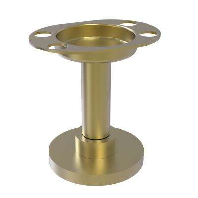 Vanity Top Tumbler and Toothbrush Holder with Dotted Accents in Satin Brass