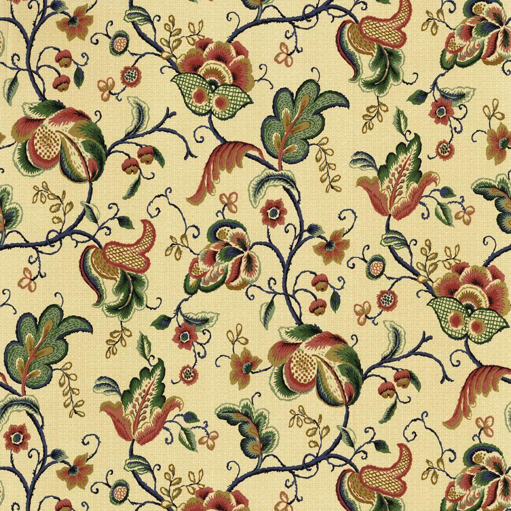 The Wallpaper Company 56 sq. ft. Blue Paisley Trail Wallpaper-DISCONTINUED