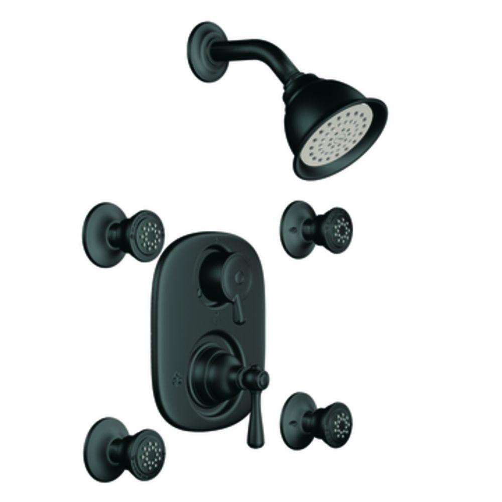 MOEN Vertical Spa Trim Only in Wrought Iron (Valve Not Included)-DISCONTINUED