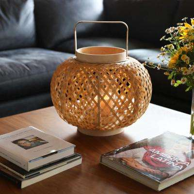Yellow Candle Bamboo Decorative Lantern